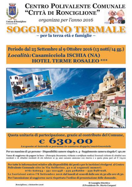 Centro Polivalente Ronciglione, organizza un soggiorno termale ad ...