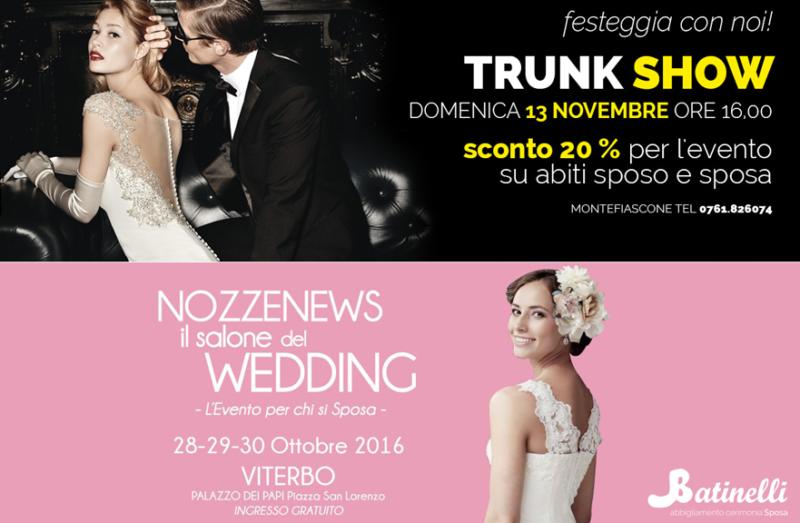 0d478a6ef119 A Montefiascone un trunk show per gli 80 anni di Batinelli Sposa ...