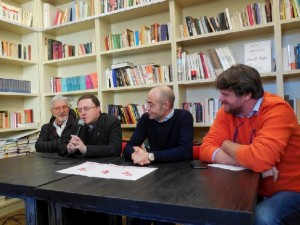 Rovelli,don Fabbri,Baffo, Rossi (foto MAG)