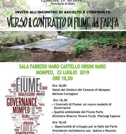 Risultati immagini per foto locandina italia nostra verso il contratto di fiume del farfa