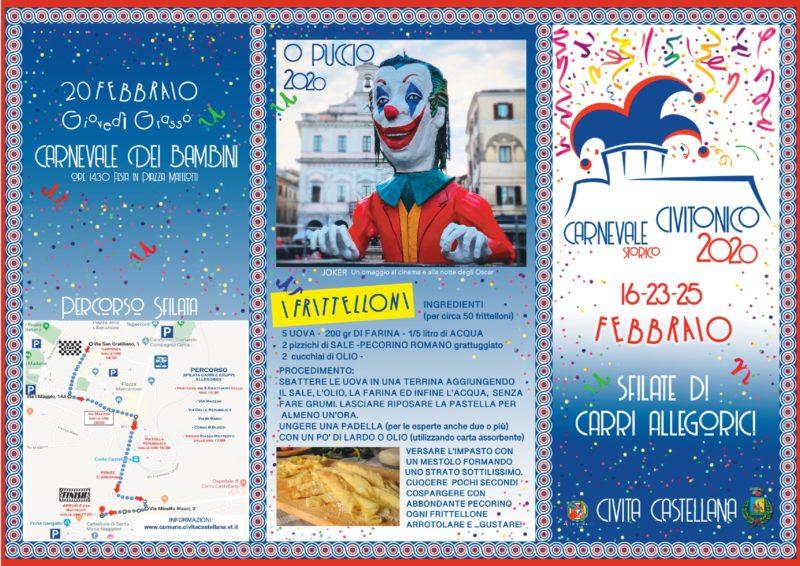 Il Carnevale Storico di Civita Castellana è alle porte